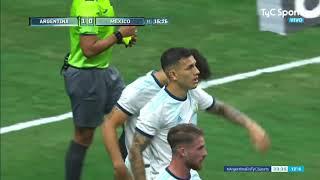 Argentina-México: doblete de Lautaro Martínez en una ráfaga