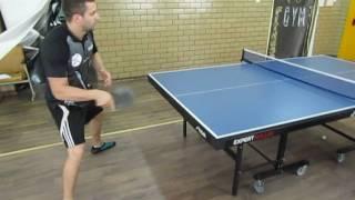 Уроки настольного тенниса: топ спин справа