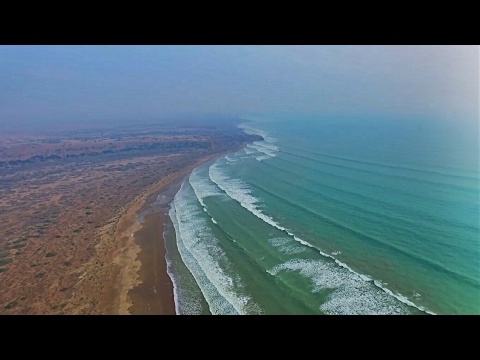 Drone view Sonmiani beach | Nature's breathtaking beauty