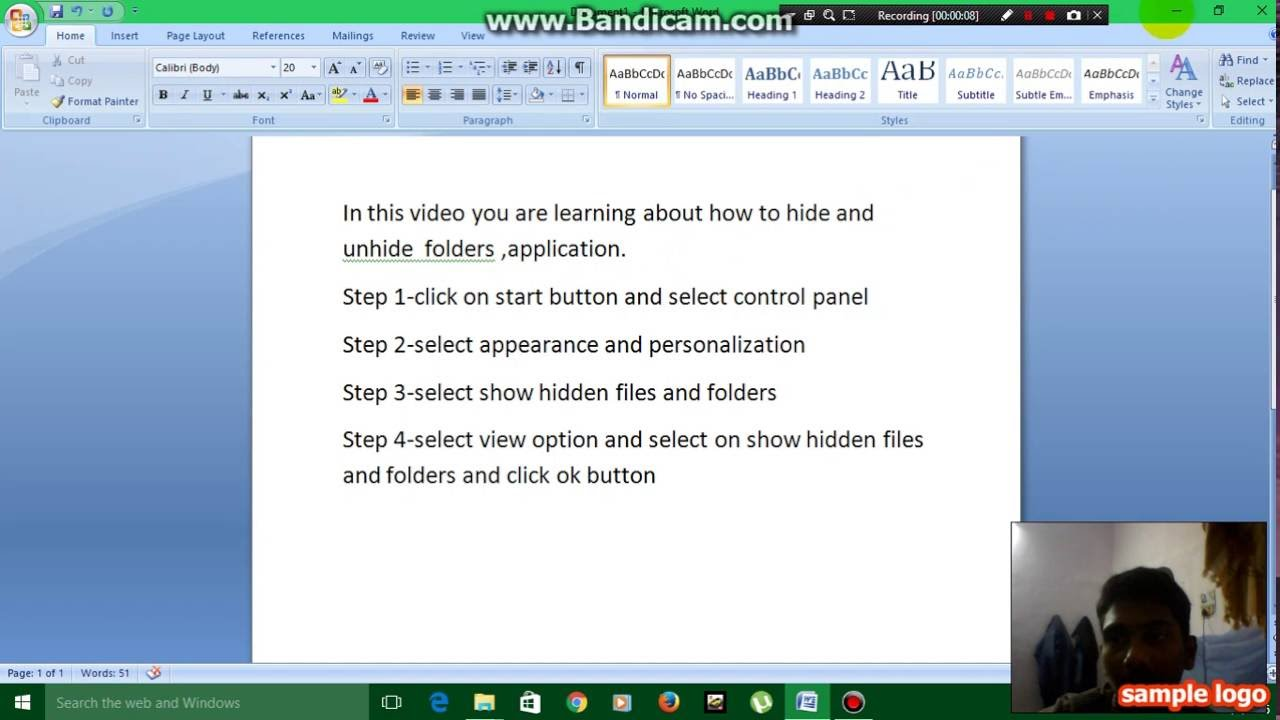 how to find hidden files in windows 10