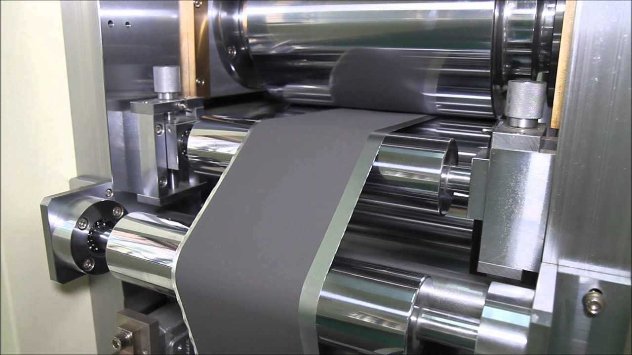 Roll Press For Lithium Battery 리튬전지용 롤 프래스 Youtube