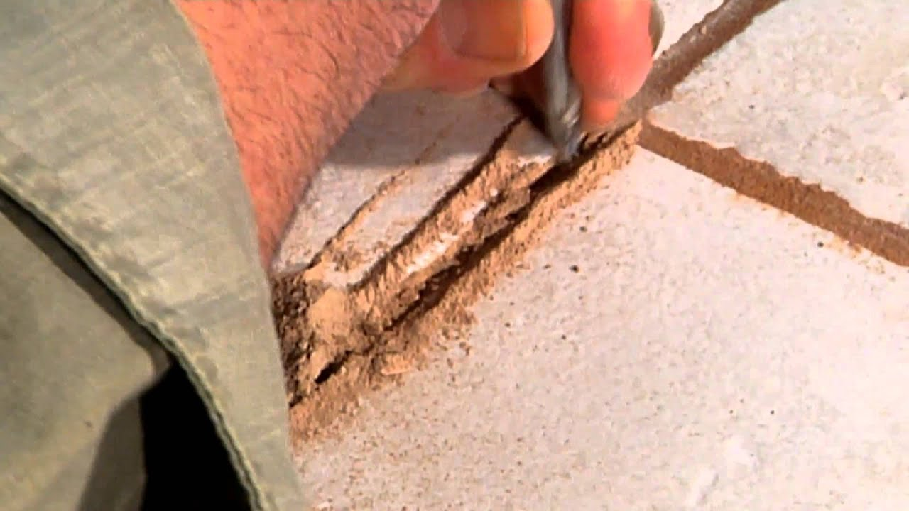 How Do I Repair A Crack In Tile Grout Ceramic Tile Repair YouTube - How to repair bathroom floor tile