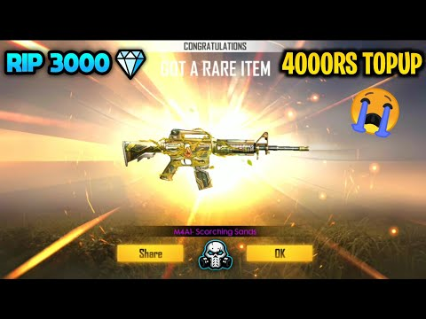 Garena Free Fire - M4A1 Scorching Sands Permanent Weapon Skin    New Weapon Royal 🔥