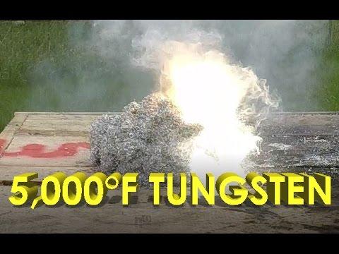 5,000 Degree Tungsten Cube Vs Magnesium Shavings