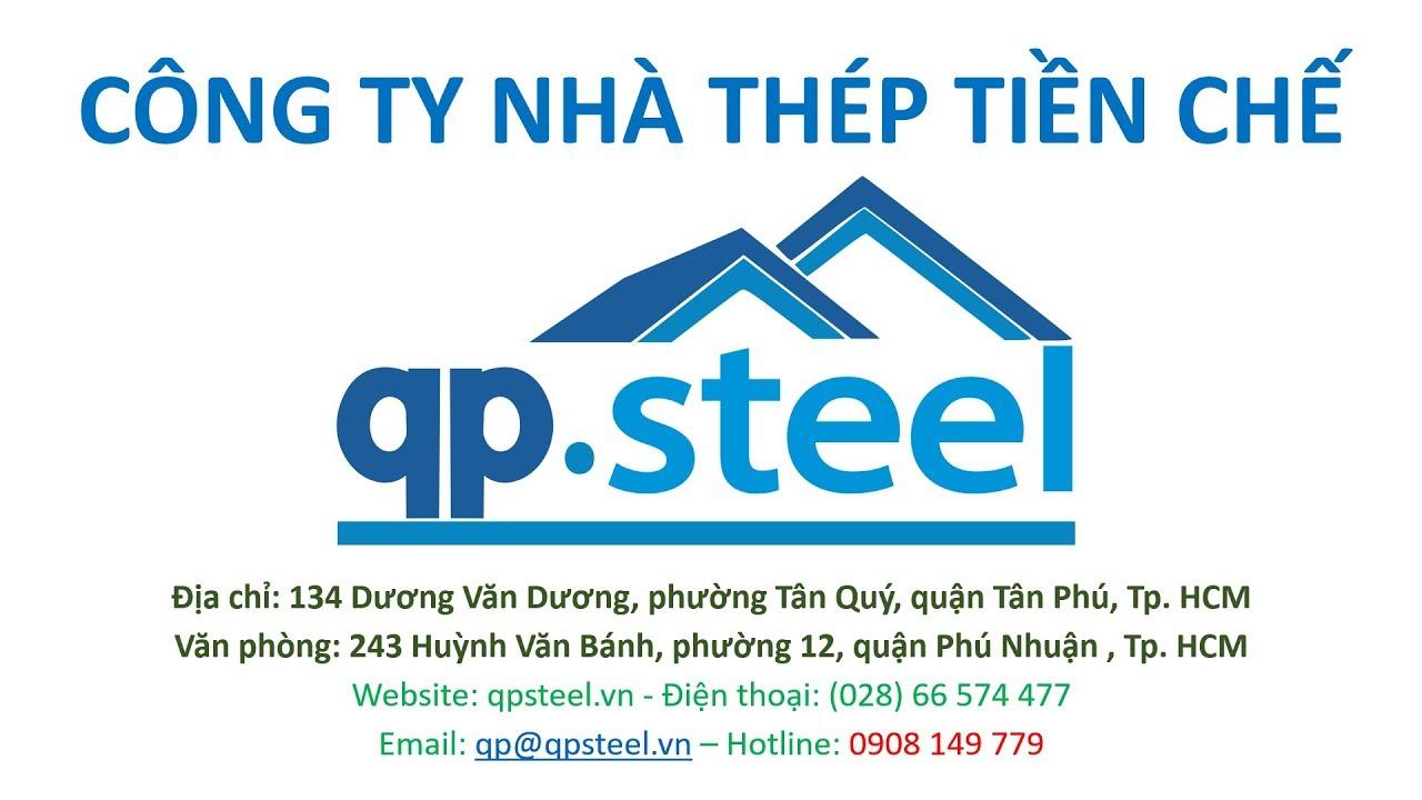 QPsteel.vn Kết Cấu Khung Thép Tiền Chế làm Kho Xưởng Công Nghiệp cao tầng