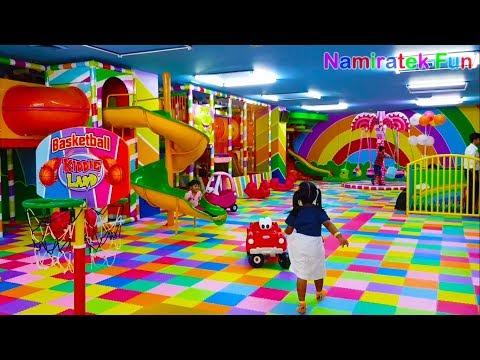 #2 Main Mandi Bola Perosotan & Main Trampolin di Taman Bermain Anak Mainan Anak Kids Zone Playground