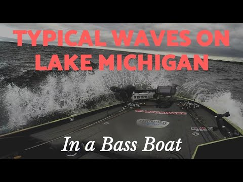 Typical Waves On Southern Lake Michigan In A Bass Boat