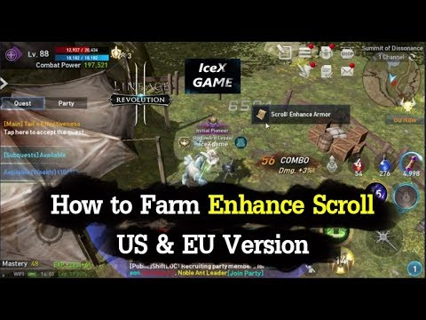 Lineage 2 Revolution How to Farm Enhance Scroll ( US / EU )
