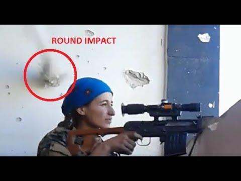 Heboh Tentara Wanita Ini Hampir Terkena Tembakan Sniper ISIS