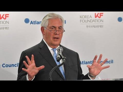 تيلرسون: الولايات المتحدة مستعدة لمحادثات مع كوريا الشمالية -بدون شروط مسبقة-  - نشر قبل 57 دقيقة