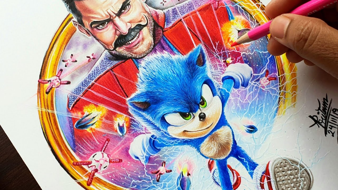 Sonic The Hedgehog Drawing 2020 Jim Carrey Dr Robotnik
