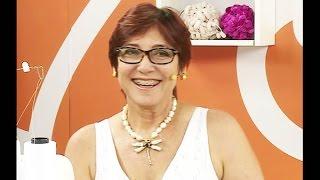 Toalha com borda em canto mitrado com Eliana Yazbek