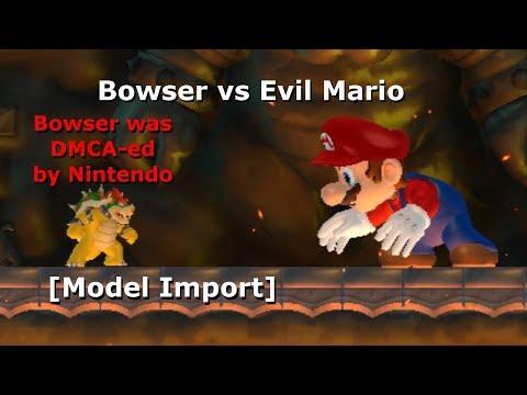 Bowser vs Evil Mario [NSMBW Hack] (+Download) (2.8M View Special)