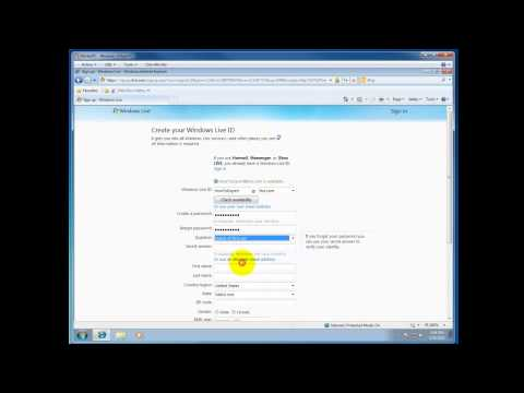 How To Create Your Windows Live ID