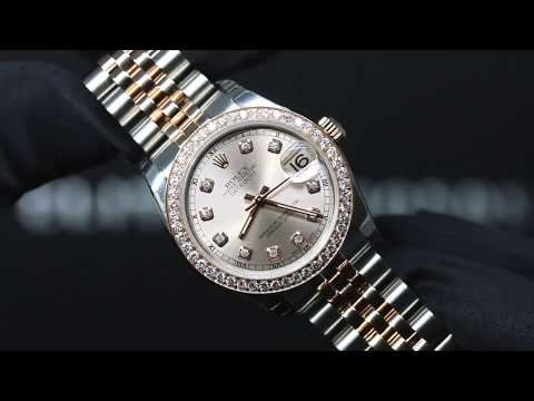 Rolex Date Just 31 - Two Tone - Rose Gold