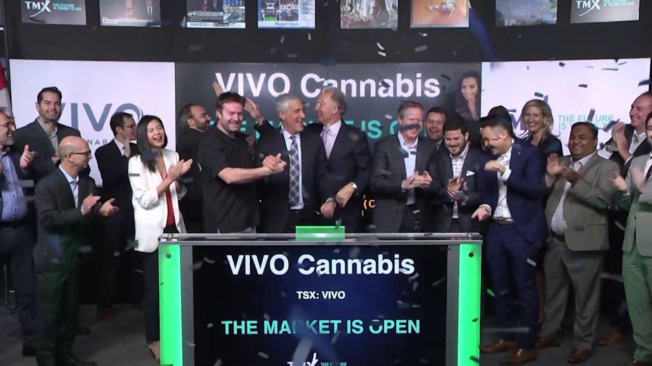 VIVO Cannabis opens Toronto Stock Exchange, January 24, 2020 - YouTube