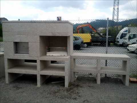 barbecue en granit barbecue en pierre naturelle youtube. Black Bedroom Furniture Sets. Home Design Ideas