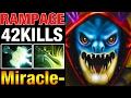 Miracle- Slark 42 Kills Amazing Skills - RAMPAGE in 4k Bracket - Dota 2