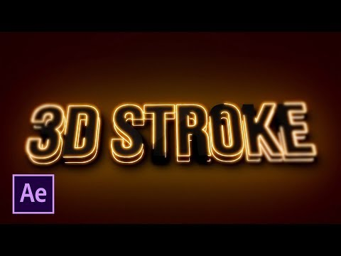 3D Light Stroke For Titles and Logos | After Effects Tutorial