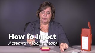 How To Inject Actemra Tocilizumab