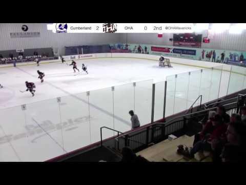 Block and breakaway pass vs Cumberland Grads U18