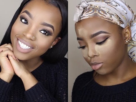 NATURAL NUDE MAKEUP TUTORIAL FOR DARK SKIN