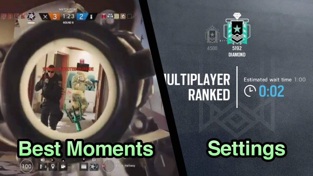 My Best Moments and Settings: Xbox Diamond - Ranked Highlights - Rainbow  Six Siege Gameplay by ImJustTooGuud