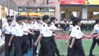 港九潮州公會中學 堅毅訓練課程結業式暨少年警訊領袖團成立會操