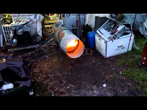 Industrial Gas Jet Heater First Fire