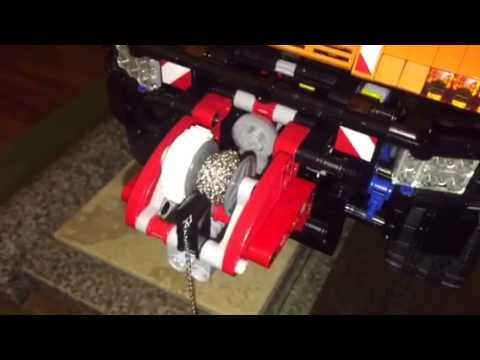 Lego Unimog upgraded winch chain