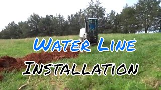 Installing a Water Line for Food Plots
