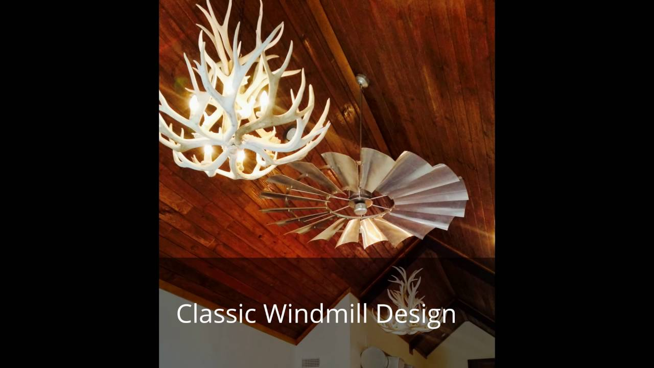 windmill ceiling fans - youtube