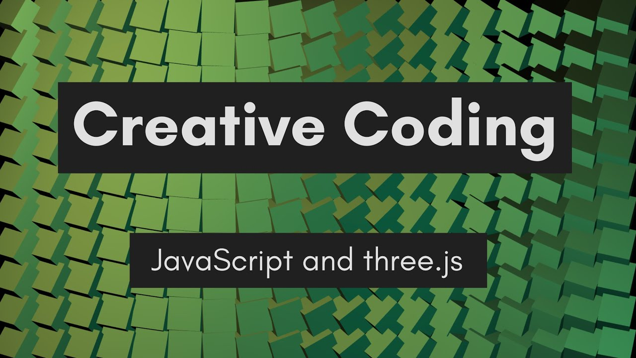 Creative Coding Time Lapse | Shimmering Cubes | JavaScript, three.js