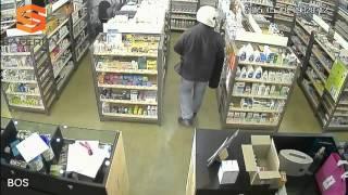 [HD] CCTV Footage Inside Pharmacy Same Thief