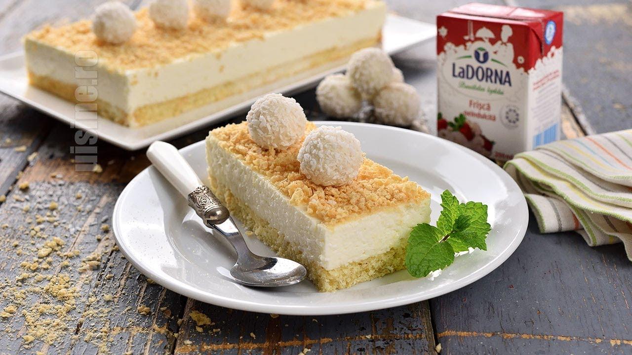 Prăjitură raffaello reteta simpla