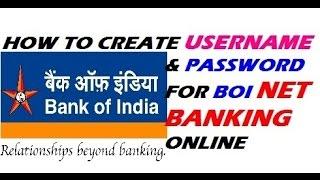 BOI internet Banking Setup   Create Usernsme & Password   Step by Step    Hindi/Urdu