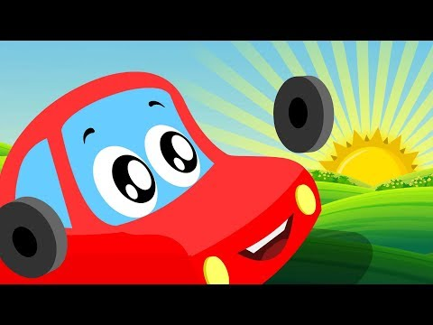 Wake Up - Little Red Car - Kindergarten Songs & Cartoons For Babies by Kids Channel kids videos - 동영상
