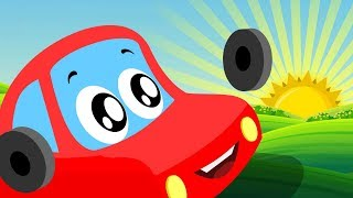 Wake Up | Little Red Car | Kindergarten Songs & Cartoons For Babies By Kids Channel Kids Videos