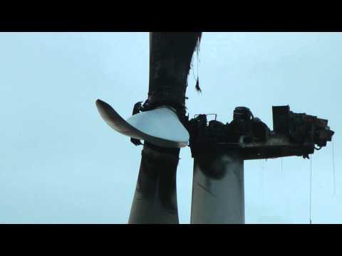 OZE Elektrownia Wiatrowa po pożarze