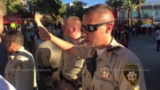 INFOWARS Fans Accosted by POLICE | Presidential Debate | Las Vegas, Nevada | 19 OCT 2016