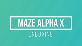 mAZE ALPHA X UNBOXING - Great looking bezel-less smartphone with 6GB RAM