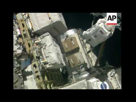 Spacewalking Astronauts Tackle Station Work