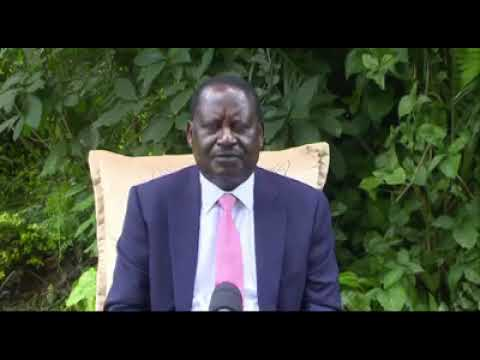 Coronavirus is real and it is a threat to humanity - Raila Odinga