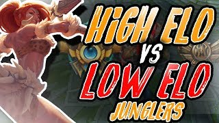 7 Key Differences Between High Elo And Low Elo Junglers (Season 8)