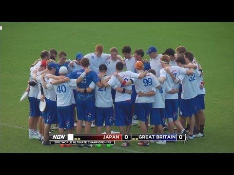 Great Britain vs Japan - 2012 World Ultimate & Guts Championships - Men's Pool Play