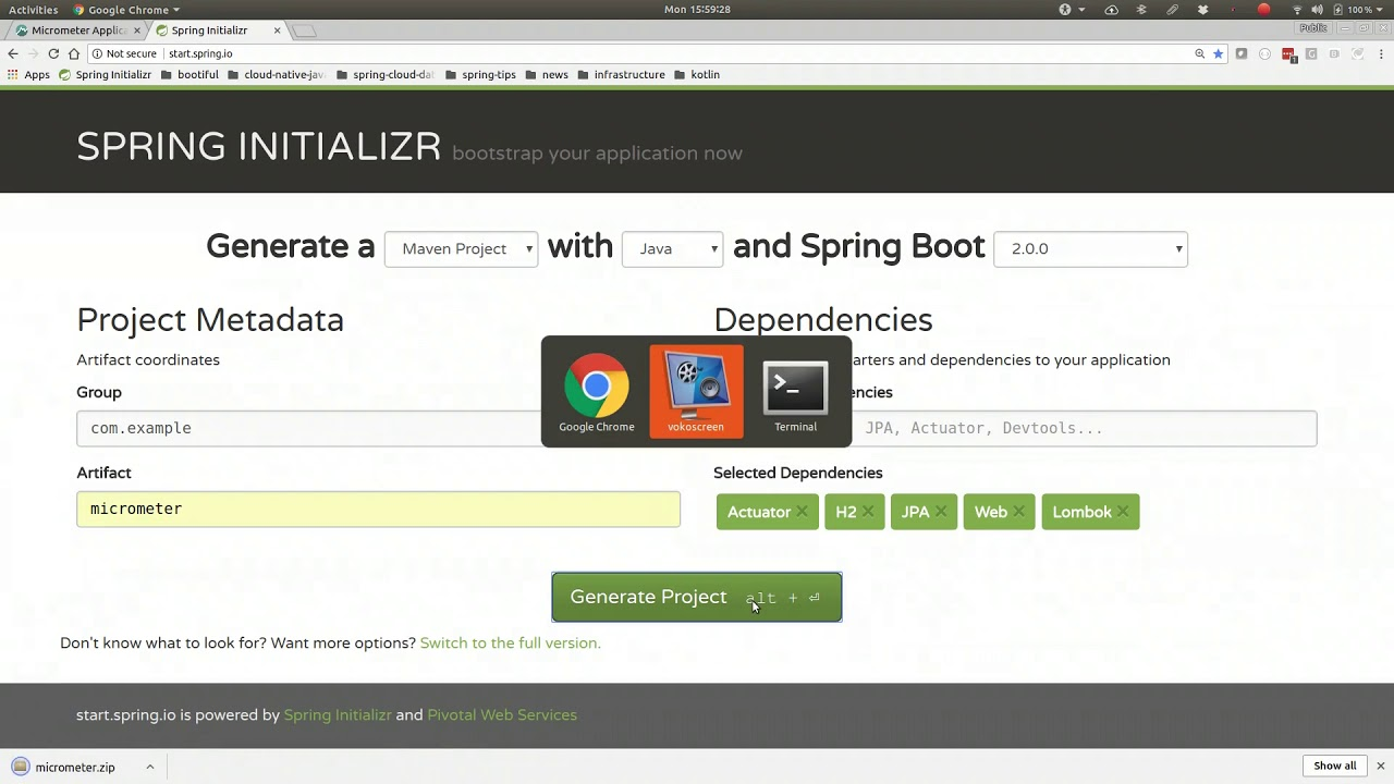 Spring Tips: Metrics Collection in Spring Boot 2 with Micrometer