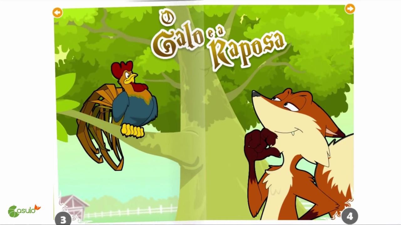 Resultado de imagem para o galo e a raposa