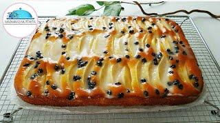 Bu Pasta Rekor Kirar🔝 Böyle Az Malzemeli Şahane Soslu Elmalı Pasta Tarifleri🍀#ma