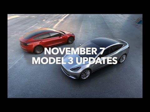 Tesla Model 3 November 7 Updates | Model 3 Owners Club