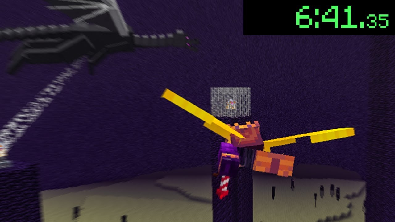 Speedrunning Minecraft with an Elytra for World Records...